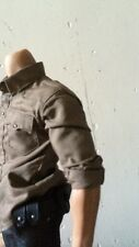 1/6 Scale Custom Brown Shirt Fit walking dead Rick Grimes Fit hottoys body TTM19