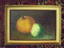 MID CENTURY STILL LIFE SCENE OF PUMPKIN AND GOURD - SWEET OIL ON BOARD PAINTING