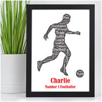 PERSONALISED Birthday Christmas Gifts for Boys Son Him Footballer Football Gift