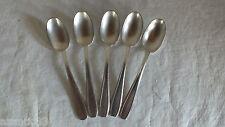 5 petites cuillères métal argenté SFAM art déco little spoons