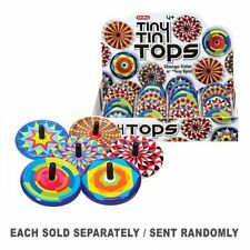 Excellent Quality Fun-filled Portable Colourful Schylling Tiny Tin Tops Gift