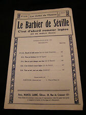 Partition Le barbier de Séville Rossini Music Sheet