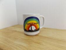 Rare Vintage Rainbow Gay Pride Chicago Skyline Ceramic Coffee Tea Mug