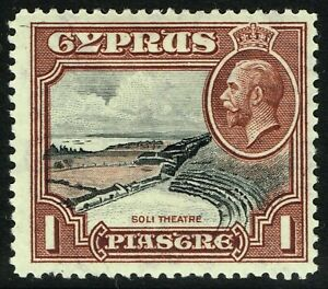SG 136 CYPRUS 1934 - 1pi BLACK & RED-BROWN - MOUNTED MINT