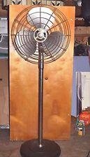 "Vintage Emerson Electric Industrial Art Deco Style Column Floor Fan 27"" Type 120"