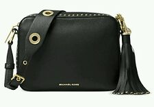NWT MICHAEL Kors Brooklyn Leather  Large Camera Bag Black STILL FACTORY WRAPPED!
