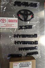 2019-2020 Toyota Rav4 HYBRID XSE AWD Blackout Emblem Overlays PT948-4219B-02
