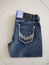 Outback/Wild Child-Ladies Bling Mid Rise Bootleg Super Stretch Jeans-Size Aus 14
