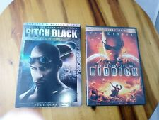 Pitch Black Dvd 2000 & The Chronicles of Riddick Dvd 2004 (2- Movie Purchase)