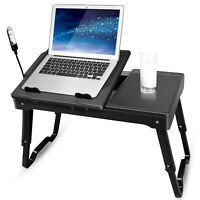 Foldable Laptop Table Bed Notebook Desk Holder Stand Tray Gaming Cooler Pad