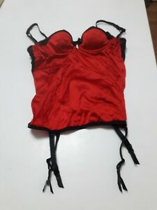 size 28D red and black basque from Marks & Spencer BNWOT