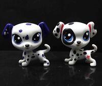 lot of 2 LPS Littlest Pet Shop DOTSY DAVIDSON Dalmatian Puppy dog