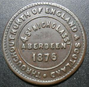 Tea token - Aberdeen 1876 / London & Newcastle tea company's - check 25.2mm