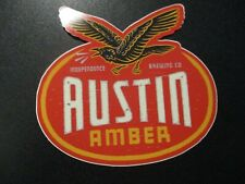 INDEPENDENCE BREWING texas AUSTIN AMBER STICKER decal craft beer brewery