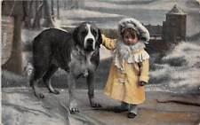 Little Girl, St. Bernard, Nanny Dog, Hunde, Chien