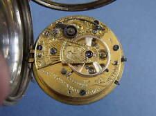 """Brevetto d'argento 3 Massey FUSEE Orologio da taschino """"JAS Robinson, Liverpool' 1843-CORNICE"""