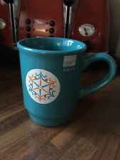 Collectible 2014 Manchester Christmas Markets Ceramic Mug - Blue/orange