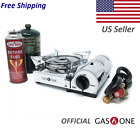 GAS ONE NEW GS-800P MINI Dual Fuel Stainless Portable Propane & Butane Stove