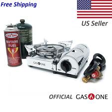 GAS ONE NEW GS-800P MINI Dual Fuel Stainless Portable Propane & Butane Stove