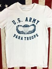 WWII US Army Paratroops Airborne Jump Wings PT T Shirt Spec Tag Men's size XXL