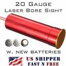 20 Gauge Laser Bore Sight Cartridge 20 GA In-Chamber Boresighter Boresight -RL05
