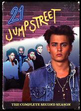 21 JUMPSTREET SEASON 2 COMPLETE 6 DISC DVD SET JOHNNY DEPP BRAD PITT Pauly Shore