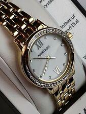 ARMITRON Woman's Watch 36 Swarovski Crystals Dress Formal 75/5516MPGP Brand New