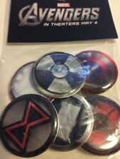 Marvel Comics Avengers Hulk Captain America Movie Theater Promo Pin Button Set