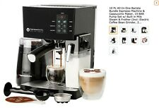 Coffee Maker With Built In Milk Steam & Frother Grinder for Easy Quick Use NEW