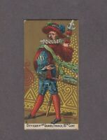 1888 Kinney Tobacco Military Series N224 OFFICER OF THE GUARD FRANCE 16TH CENT.