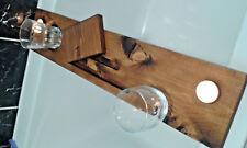 Wooden Bath Tray Caddy -  Dark Oak colour