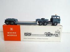 RARE WIKING 503 GROBER TIEFLADE SATTELZUG LOW LOADER HO SCALE MINT BOXED (Z264)