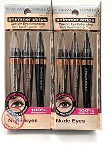 Physician Formula Shimmer Strips Kohl Kajal Eyeliner Trio 7876 Nude Eyes (2X)