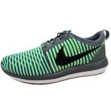 Nike Roshe Two Flyknit Dark Grey/Black-Gamma Blue-Volt 844833-004 Men's SZ 10