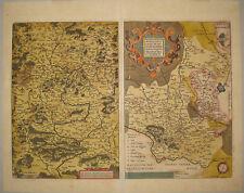Franconia deutschland monasteriensis kupferstich engraving Ortelius 1610 karte
