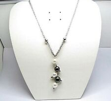 South Sea Pearl 11mm to 10mm. & Diamonds Necklace Size 44cm or 17.3 inches Long