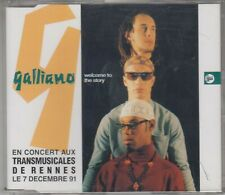 GALLIANO promo cd single WELCOME TO THE STORY 1990 2 tracks