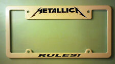 METALLICA LICENSE PLATE FRAME / METALLICA RULES!