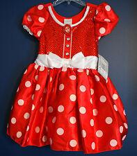 New Disney Store Classic MINNIE Costume Dress Girls Small 5/6