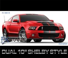"2012 Ford Mustang GT Rally Stripes Dual 10"" Stripe Kit Graphics"