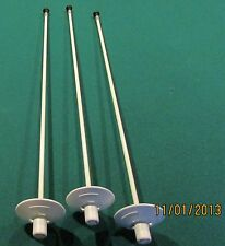 PUTTING GREEN MARKERS - POLE STYLE - FIBERGLASS - 3 MARKERS - WHITE