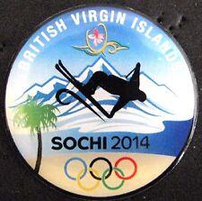 SOCHI 2014 Olympic British Virgin Island NOC team delegation pin very rare