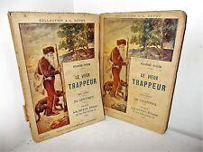 Le Vieux Trappeur, par Fenimore Cooper - A.-L . Guyot, 2 vols, fin XIXème