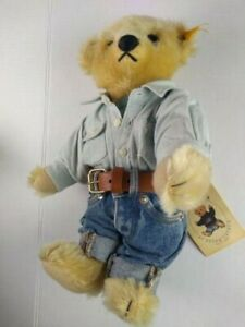 Steiff Polo Bear Ralph Lauren Limited Edition American Bear Growler w/ Tags