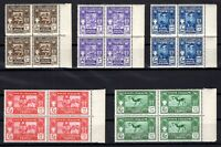 P134796/ ITALIAN LYBIA / SASSONE # 87 / 91 MINT MNH BLOCKS OF 4 CV 1050 $