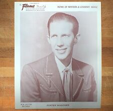 authentic Porter Wagoner press photo from Mpls Flame Cafe