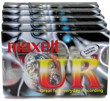 More details for 5 maxell ur90 90 minutes blank audio media recording cassette tapes new