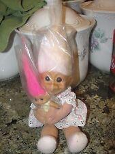 RUSS BERRIE TROLL DOLL woman baby kid vintage toy