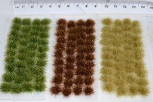 Large Static Grass tufts - Self Adhesive basing wargame miniature models Rail