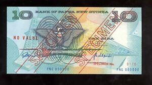 Papua New Guinea 1988 10 Kina Specimen №170  aUNC-UNC(62-63)